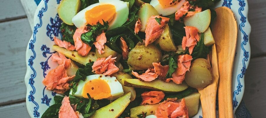 New Potatoes & Hot Smoked Salmon Salad