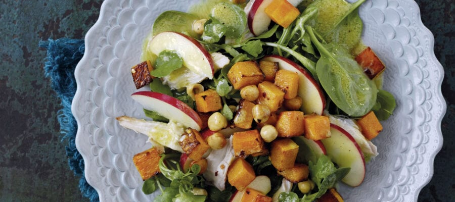 Pink Lady's Favourite Chicken Salad with Butternut Bites