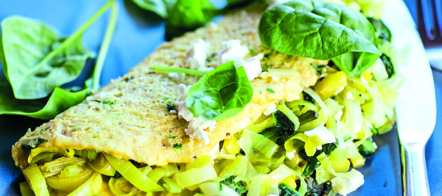 Leek & Spinach Omelette
