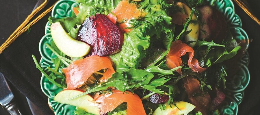 Smoked Salmon & Beetroot Salad