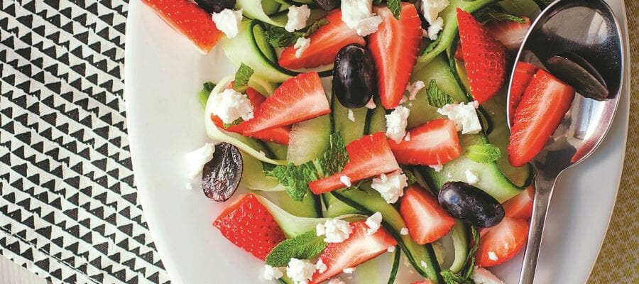Strawberry, Cucumber & Feta Salad