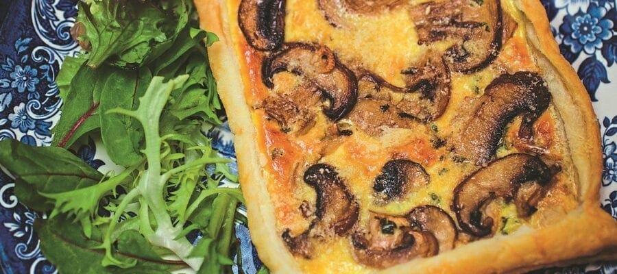 Mushroom & Cheese Tarts