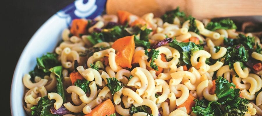 Kale & Sweet Potato Pasta