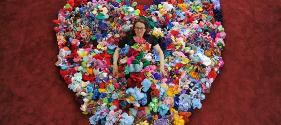 20,000 knitted hearts destined for Malvern show garden this spring