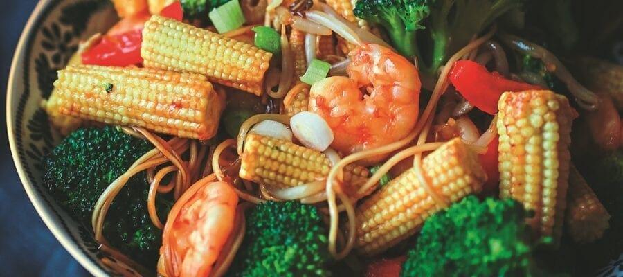Prawn & Spring Onion Chow Mein