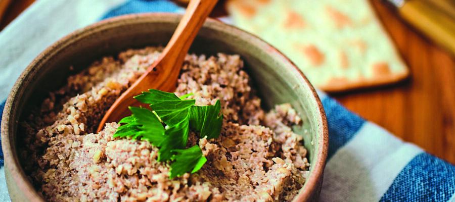 Roast Garlic, Mushroom & Nut Pate
