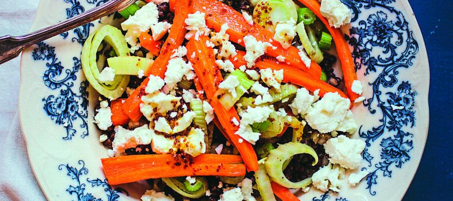 Roasted Carrot, Fennel & Lentil Salad