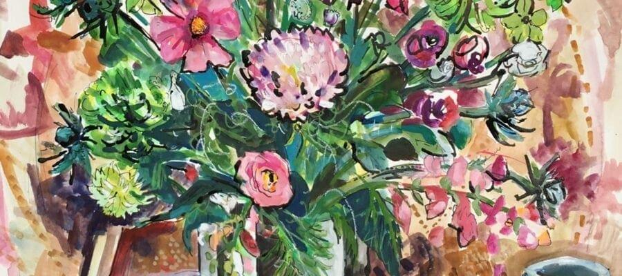 Chrysanthemum Still Life by Clare Arbuthnott