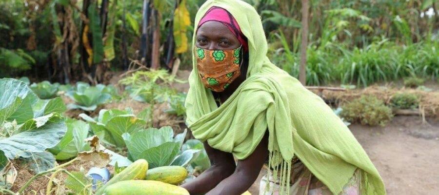 A farmer in Rwanda